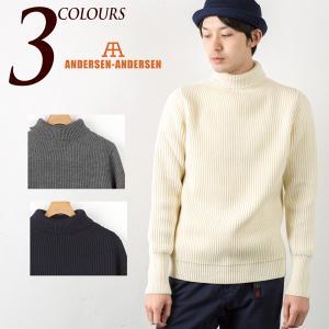 アンデルセン アンデルセン ANDERSEN-ANDERSEN タートルネック セーター イタリア製 ニット|cocochiya