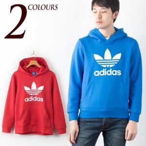 アディダス オリジナルス ボーイズ トレフォイル フーディー スウェット パーカー adidas originals trefoil hoodie BRH65 レディース メンズ キッズ|cocochiya