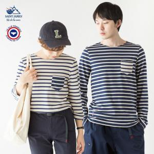 セントジェームス × ル スリップ フランセ ポケット付き 長袖 Tシャツ BALADE LSF 4836|cocochiya
