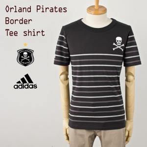 30%OFFセール アディダス adidas Orland Pirates オーランド・パイレーツ ボーダー Tシャツ|cocochiya