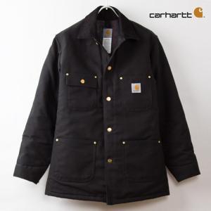 カーハート ジャケット チョアコート ブラックダック Carhartt Duck Chore Coat C001|cocochiya