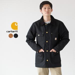 カーハート ジャケット チョアコート ブラウンダック Carhartt Duck Chore Coat C001|cocochiya