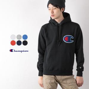 チャンピオン ビッグロゴ スウェット パーカー Champion C3-E127 デカロゴ メンズ レディース|cocochiya