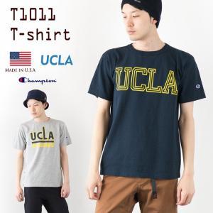 チャンピオン T1011 アメリカ製 UCLA プリント Tシャツ Champion T1011 C5-F303 カリフォルニア大学 ロサンゼルス校 ティーテンイレブン 半袖 Tシャツ|cocochiya
