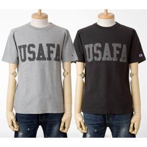 Champion USAFAリフレクタープリントリバースウィーブTシャツチャンピオン半袖Tシャツ cocochiya