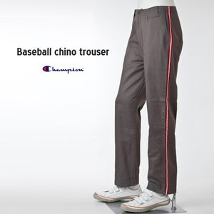 セール Champion ベースボール チノ トラウザーミディアムグレー チャンピオン チノパンツ|cocochiya