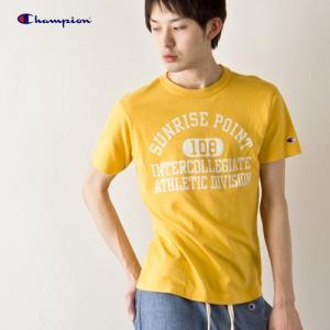 チャンピオン 半袖Tシャツ740.イエロー Champion CUMPUSキャンパス|cocochiya