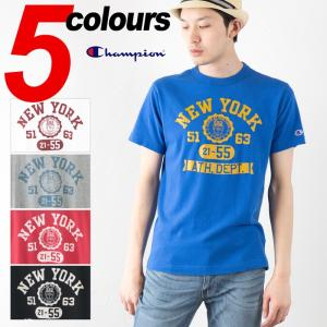 チャンピオン 半袖 Tシャツ カレッジプリント C3-F331 Champion CAMPUS キャンパス|cocochiya