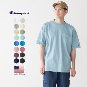 チャンピオン T1011 アメリカ製 半袖 ポケット Tシャツ|cocochiya