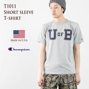 チャンピオン T1011 カレッジ プリント Tシャツ Champion 米国製|cocochiya