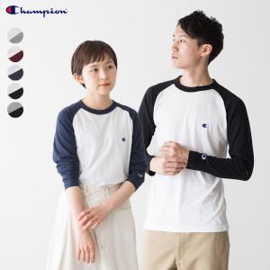 チャンピオン ベーシック ラグラン ロングスリーブ Tシャツ C3-P402|cocochiya
