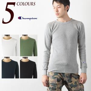 チャンピオン サーマル ロングスリーブ Tシャツ C3-E430CHAMPION BASIC LONGSLEEVE T-SHIRT|cocochiya