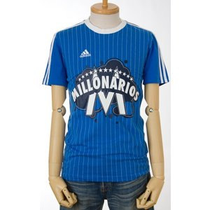 30%OFFセール adidas ミジョナリオスTシャツエアフォースブルー/ホワイト メンズアディダスTシャツ|cocochiya