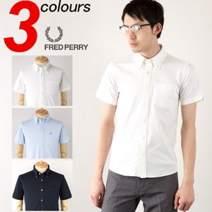 フレッドペリー フルオープン ジャケットシャツ ポケット付 ボタンダウン ポロシャツ ビズポロ F4351 FRED PERRY 送料無料|cocochiya