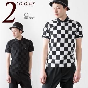 フレッドペリー FRED PERRY ポロシャツ チェッカーボード プリント ピケ シャツ CHECKER BOARD PRINT PIQUE SHIRT F1573|cocochiya