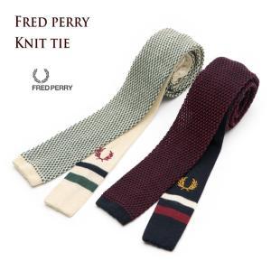 フレッドペリー コットン ニット ネクタイ FRED PERRY メンズ レディース|cocochiya