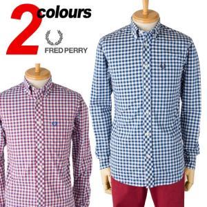 フレッドペリー 3色ギンガムチェック シャツFRED PERR LONG SLEEVE 3COL GINGHAM SHIRT M9330 長袖 ボタンダウンシャツ|cocochiya