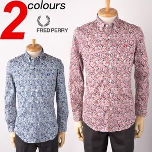 フレッドペリー シャツ リバティー フラワープリント シャツ FRED PERRY Liberty Printed Long Sleeve Shirt F4301送料無料|cocochiya