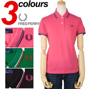 レディース FRED PERRY ラインポロシャツ日本製 フレッドペリー ポロシャツ|cocochiya