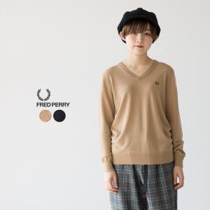 フレッドペリー ティップド Vネックセーター F7148|cocochiya
