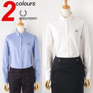 レディース フレッドペリー オックスフォード ボタンダウンシャツ FRED PERRY シャツ ブラウス送料無料|cocochiya