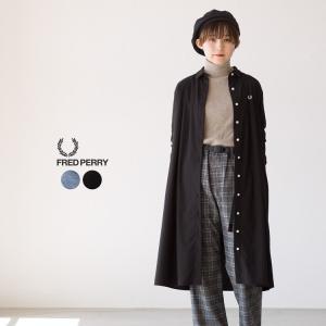 フレッドペリー ボックスプリーツ ドレス F8442 シャツワンピース|cocochiya