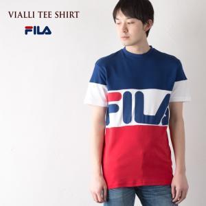 フィラ リニアロゴ Tシャツ FILA VIALLI TEE 半袖 メンズ|cocochiya