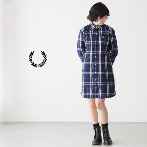 フレッドペリー レディース タータンチェック ドレス シャツ FRED PERRY TARTAN DRESS SHIRT F8315|cocochiya
