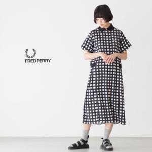 フレッドペリー レディース オックスフォード ドレス シャツ FRED PERRY OXFORD DRESS SHIRT D9018|cocochiya