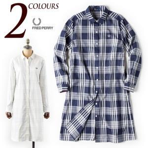 フレッドペリー レディース タータンチェック シャツドレス F8341 FRED PERRY TARTAN DRESS SHIRT|cocochiya