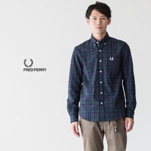 フレッドペリー タータンチェック ボタンダウンシャツ F4528|cocochiya