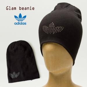 アディダス オリジナルス グラム ビーニー 帽子ブラック/ランニングホワイト adidas ORIGINALS GLAM BEANIE|cocochiya