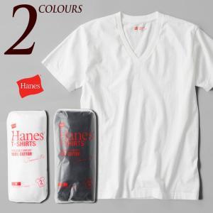 ヘインズ ジャパンフィット Vネック Tシャツ 2枚組 H5115|cocochiya