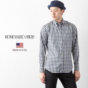 インディビジュアライズドシャツ 米国製 ビッグ ギンガムチェック ボタンダウンシャツ INDIVIDUALIZED SHIRTS  スタンダードフィット 送料無料 cocochiya