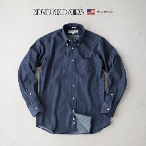 インディビジュアライズドシャツ ビンテージ デニム ボタンダウンシャツ Q07NBO-K スタンダードフィット cocochiya