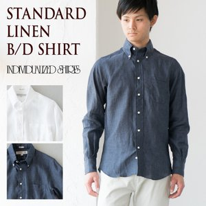 インディビジュアライズドシャツ リネン ボタンダウンシャツ 米国製 スタンダードフィット cocochiya