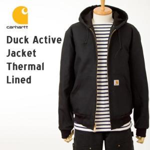 カーハート ジャケット アクティブジャケット 裏サーマル J131ブラックダック 黒 Carhartt Active Jacket J131 パーカー ジャケット|cocochiya