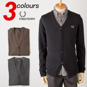 フレッドペリー プレーン カーディガンFRED PERRY セーター K1322|cocochiya