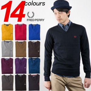 20%OFF フレッドペリー クラシック Vネック セーター FRED PERRY CLASSIC V-NECK SWEATER K3200 K1320|cocochiya