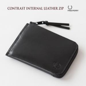 フレッドペリー コントラスト インターナル レザージップ L3225|cocochiya