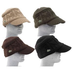 ラコステ ニット帽 ニットキャップメンズ・レディース兼用フリーサイズ LACOSTE 帽子・ニットワッチ|cocochiya