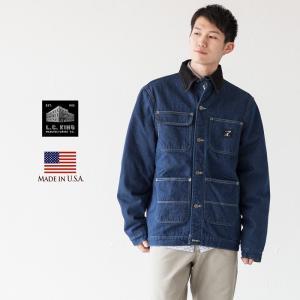 LCキング 米国製 バーンコート LOT145LC デニム カバーオール ワークジャケット アメリカ製|cocochiya