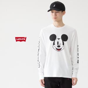 リーバイス ミッキー グラフィック ロングスリーブ Tシャツ 360150014 ディズニーコレクション|cocochiya