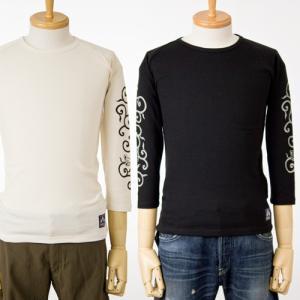 ちきりや サーマル8分袖Tシャツ唐草蛙 和柄/チキリヤCHIKIRIYA長袖Tシャツ|cocochiya