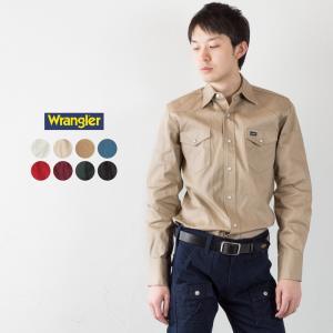ラングラー ツイル ウエスタンシャツ Wrangler ワークシャツ|cocochiya