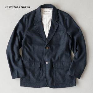 ユニバーサルワークス ツーボタン ジャケット ウール ダイヤモンド 17193 UNIVERSAL WORKS TWO BUTTON JACKET メンズ テーラードジャケット|cocochiya