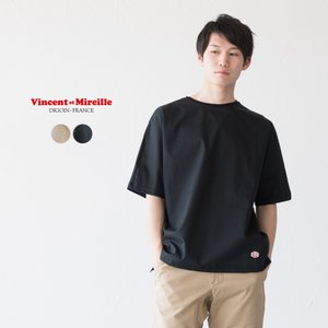 ヴァンソンエミレイユ コンビネーション クルーネック Tシャツ VM191WC17061|cocochiya