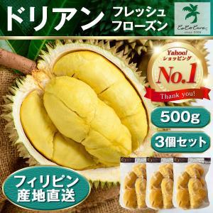 フローズンドリアン500g×3 冷凍 真空パック 産地直送 ドリアン Frozen durian COCOCURE 1月6日以降発送分