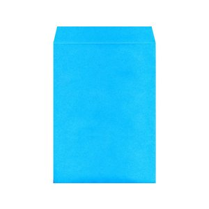 角2カラークラフト封筒 ブルー 100枚/K2S-427|cocodecow