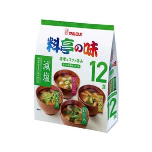 マルコメ/お徳用 料亭の味みそ汁 減塩 12食